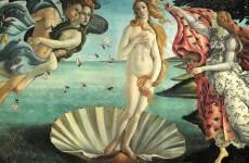 La nascita di Venere, Botticelli, Firenze, Galleria degli Uffizi